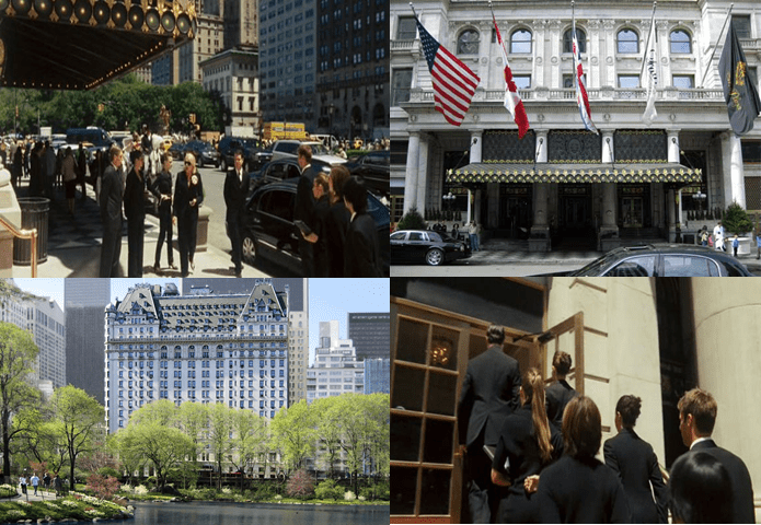 The Plaza Hotel, 750 5th Avenue and Central Park South, Manhattan.