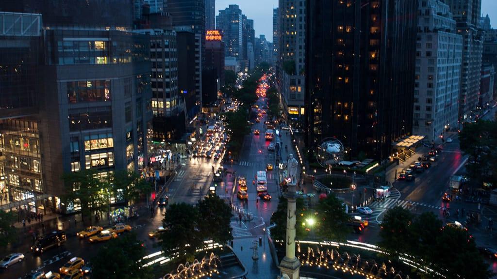 Vista incrível do restaurante Robert em Nova York. | Foto: Robert oficial