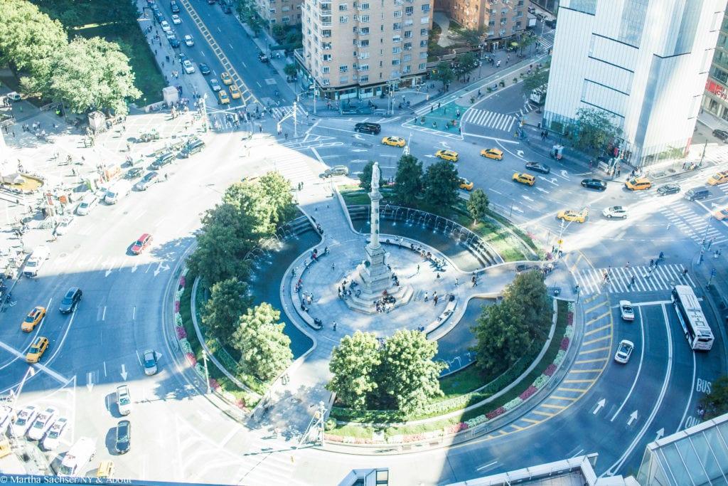 Vista para Columbus Circle no restaurante Asiate