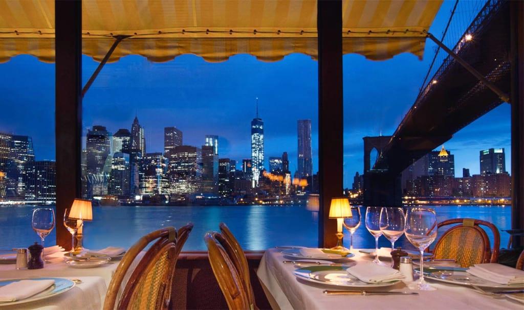 Vista do River Cafe para o Hudson River. | Foto: River Cafe oficial