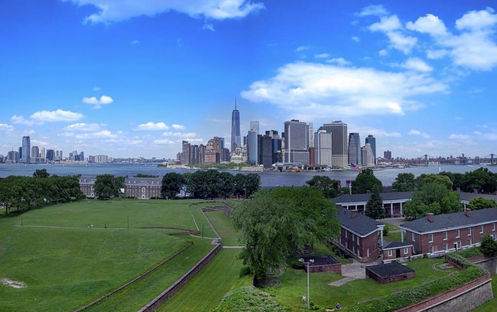 Vista para o Fort Jay