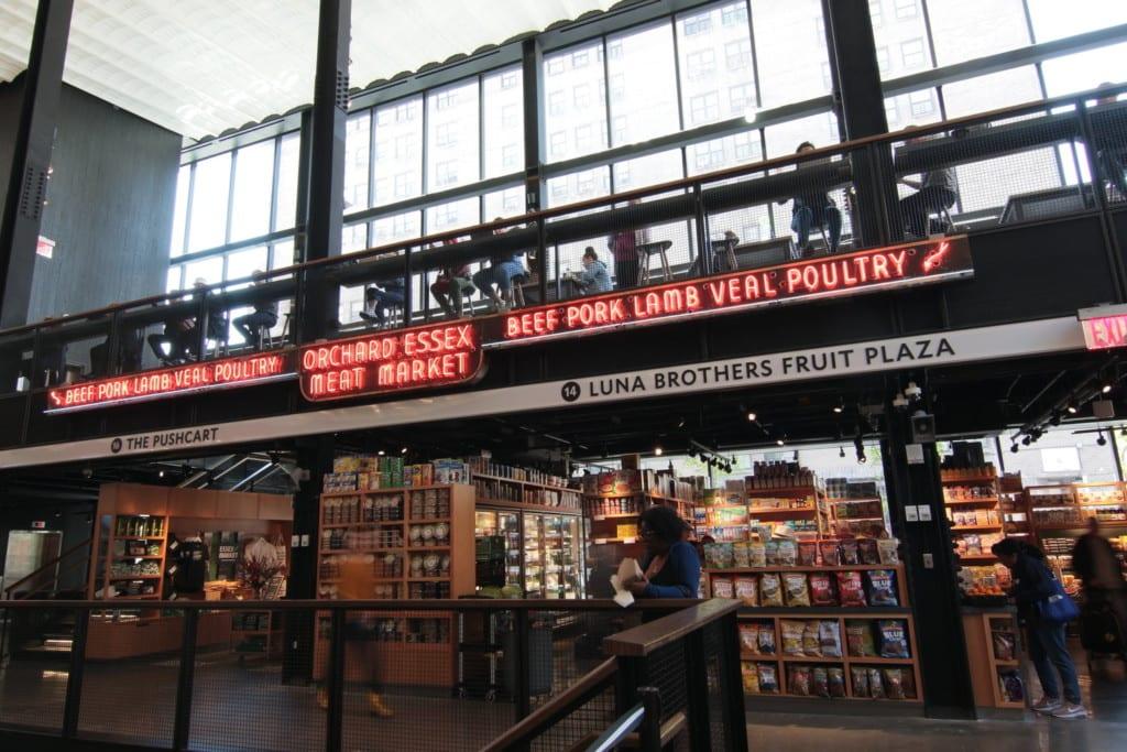 Espaço interno do Essex Market, em Nova York