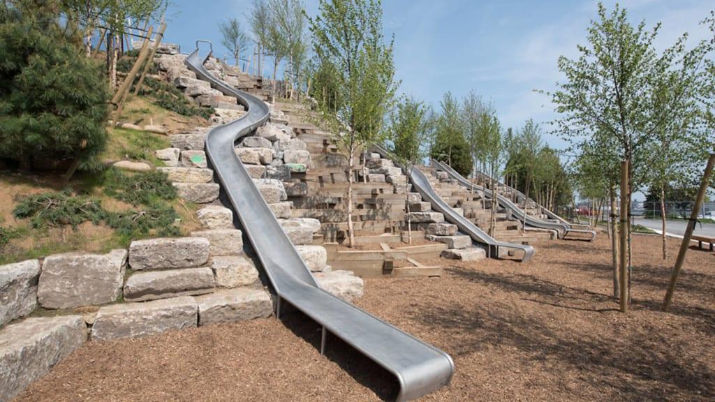 Slide Hill em Governors Island