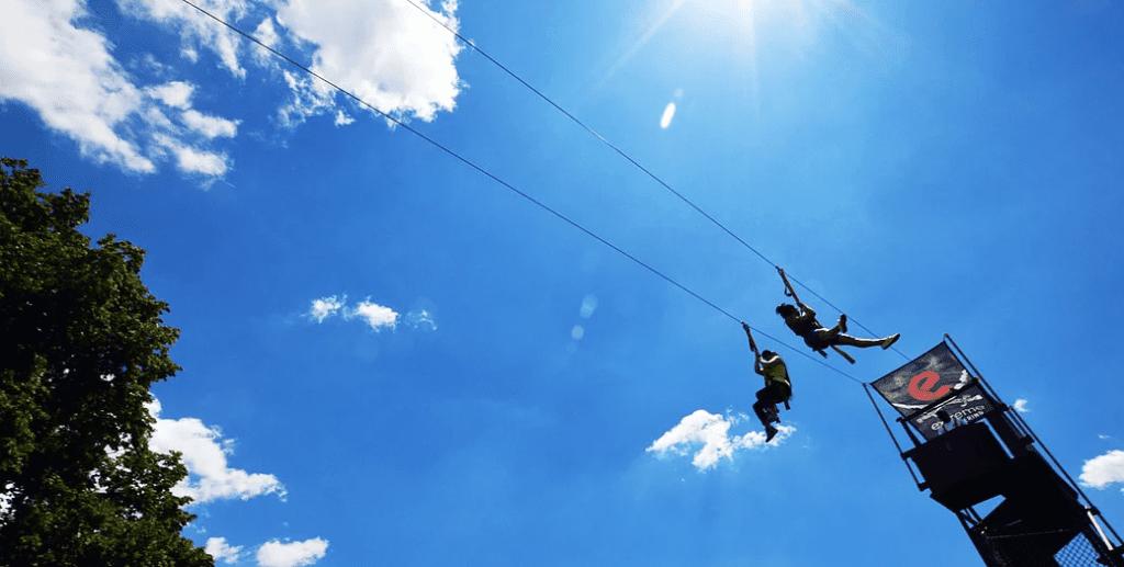 Flywire Zipline em Governors Island