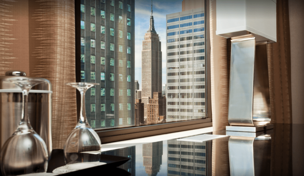 Vista do The Westin New York Grand Central para o Empire State