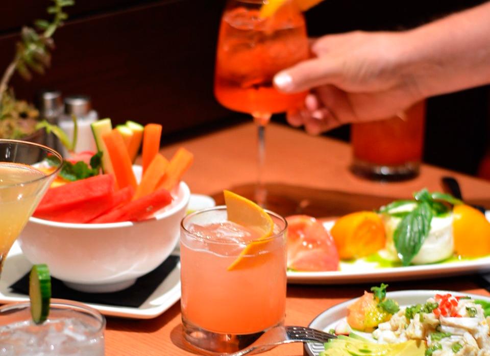 Drinks deliciosos oferecidos pelo restaurante