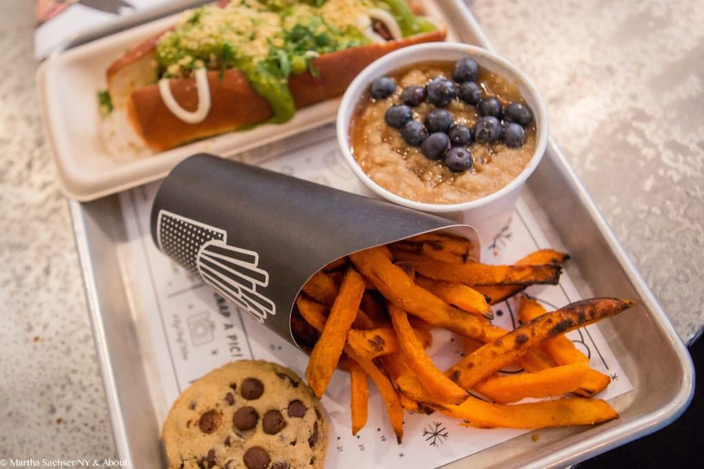 Prato do restaurante vegano By Chloe em Nova York