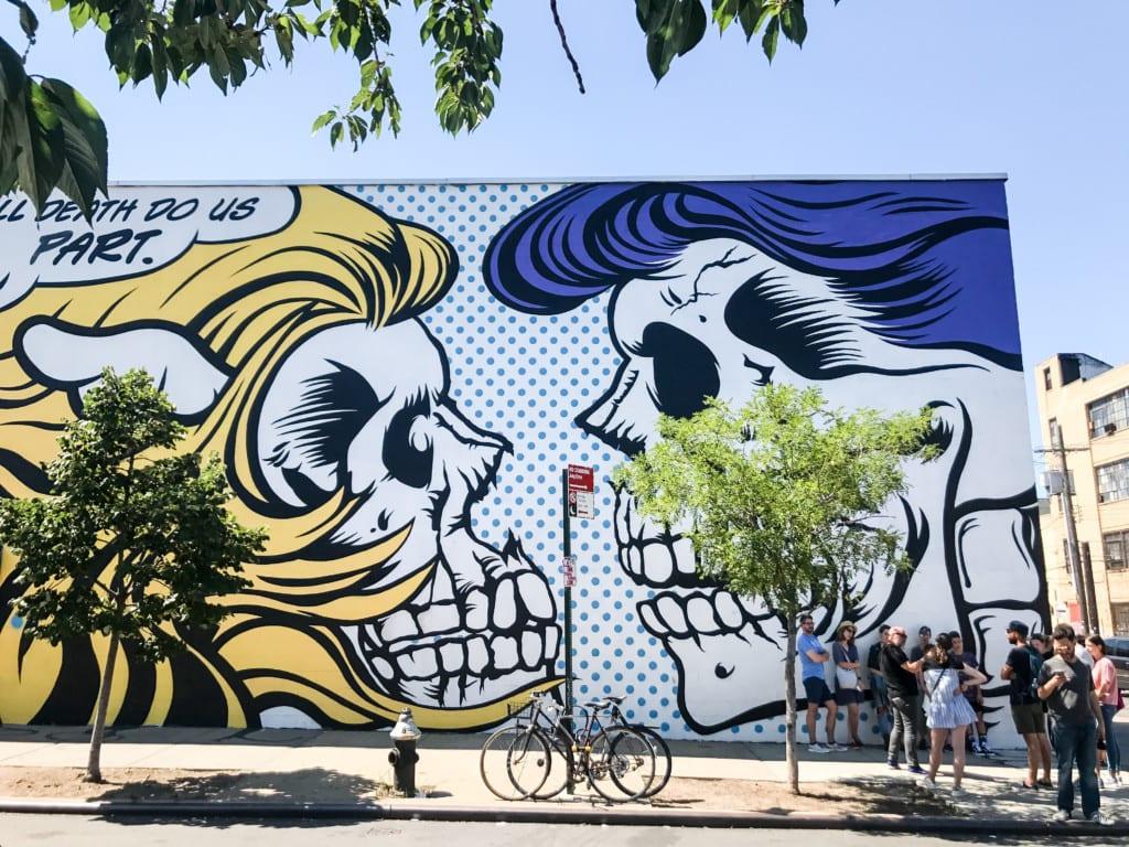 Mural incrível em Bushwick, bairro do Brooklyn.