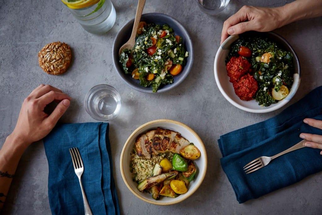 Bowls do restaurante Dig Inn em Nova York