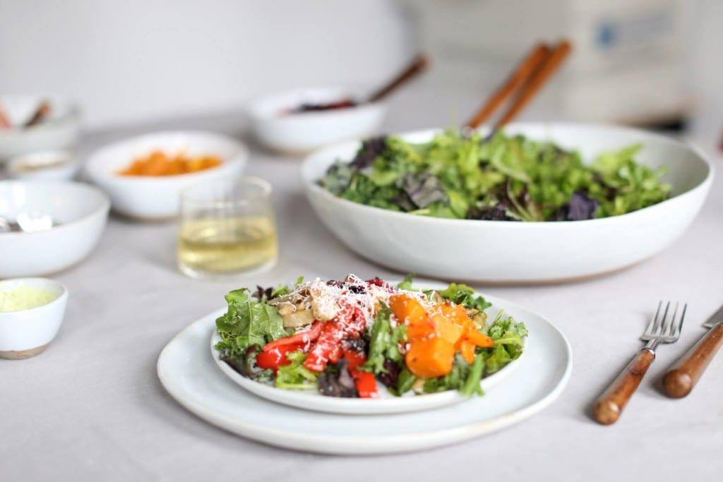 Prato de salada do Dig Inn em Nova York
