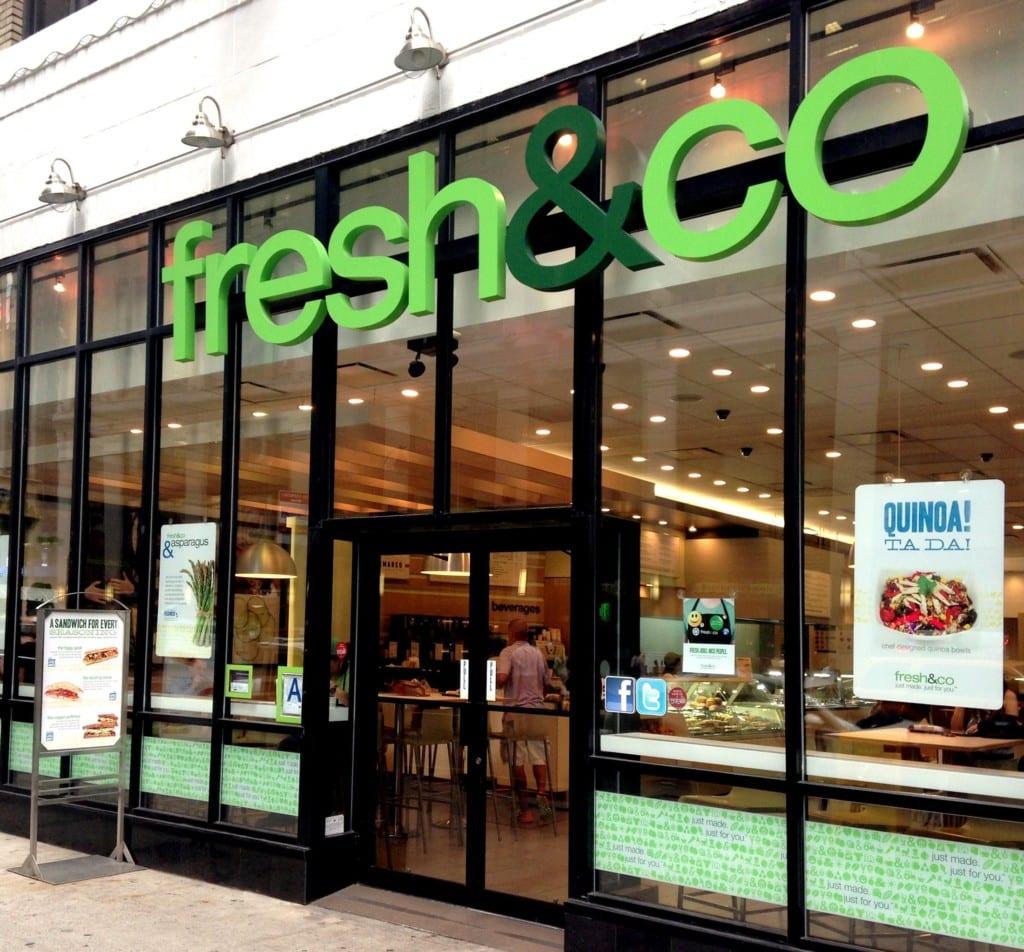 Fachada no Fresh & Co em Nova York