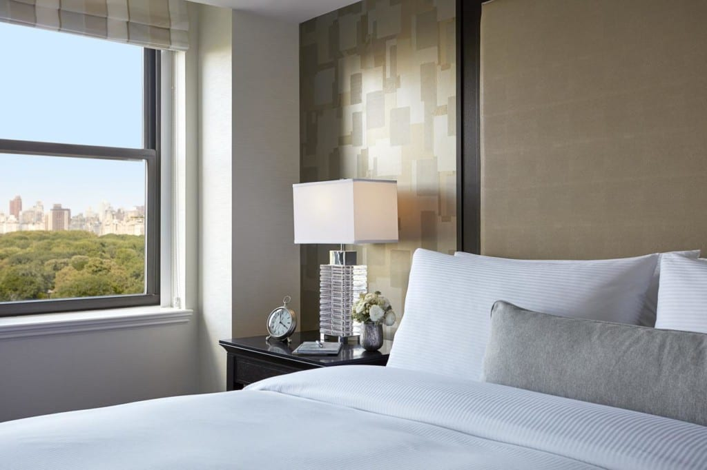 Quarto do JW Marriott Essex House New York com vista