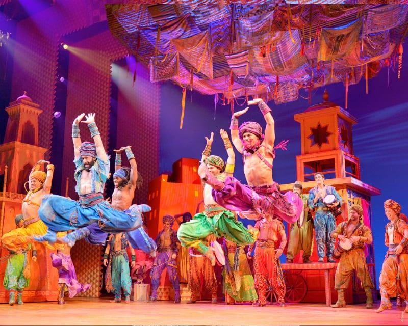 Parte do espetáculo Aladdin