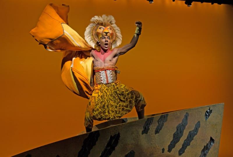 Parte do espetáculo O Rei Leão da Broadway