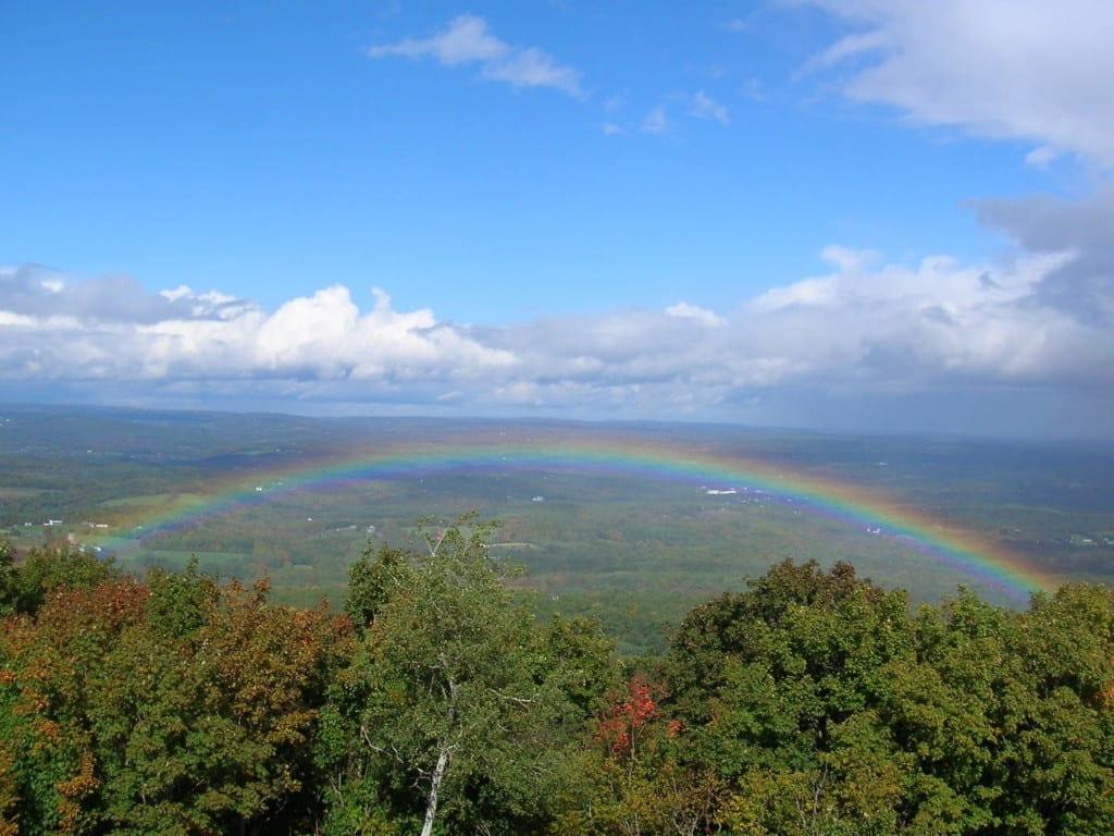 vista de Five State Lookout em Catskills.