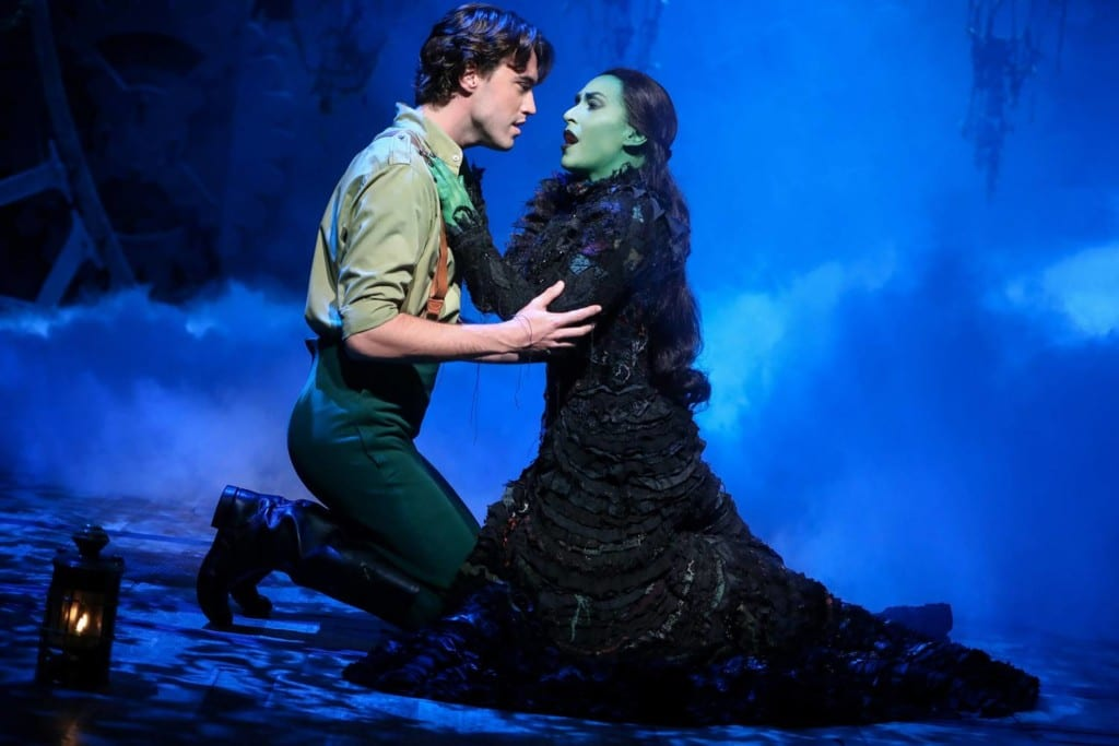 Cena do musical Wicked da Broadway