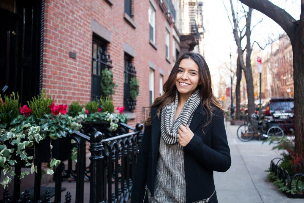 Look para usar durante os dias mais frios em Nova York