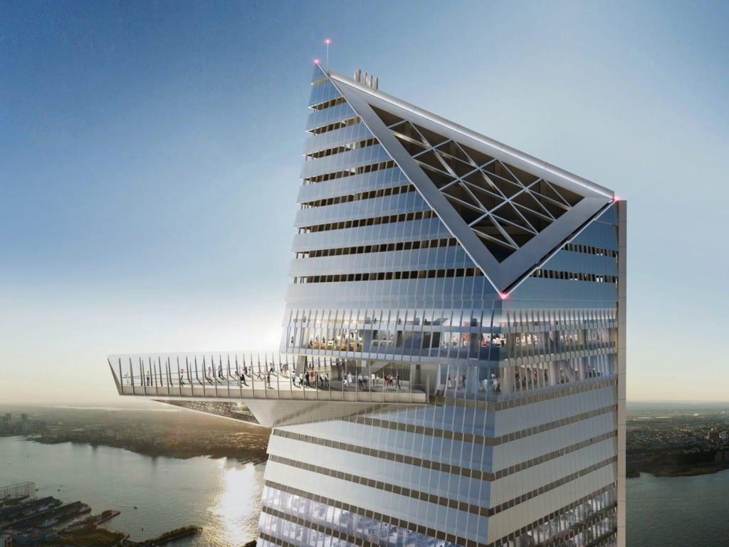 Renderização do futuro deck de observação do Hudson Yards