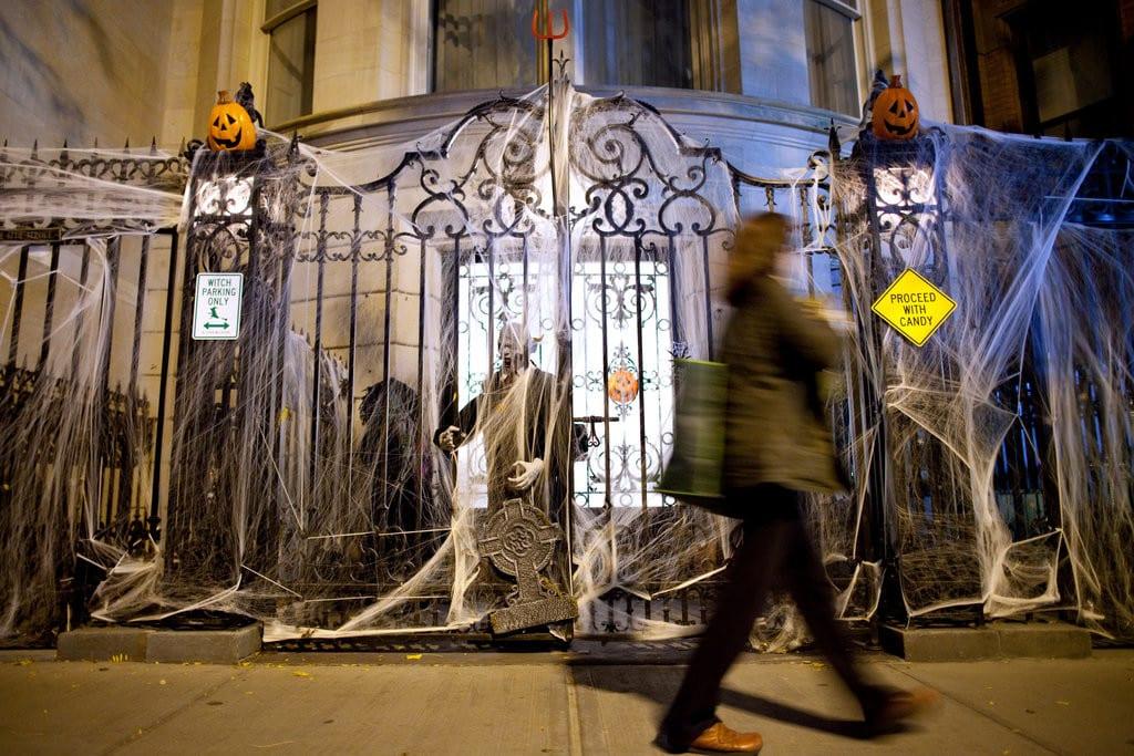 Decoração de Halloween no Upper East Side