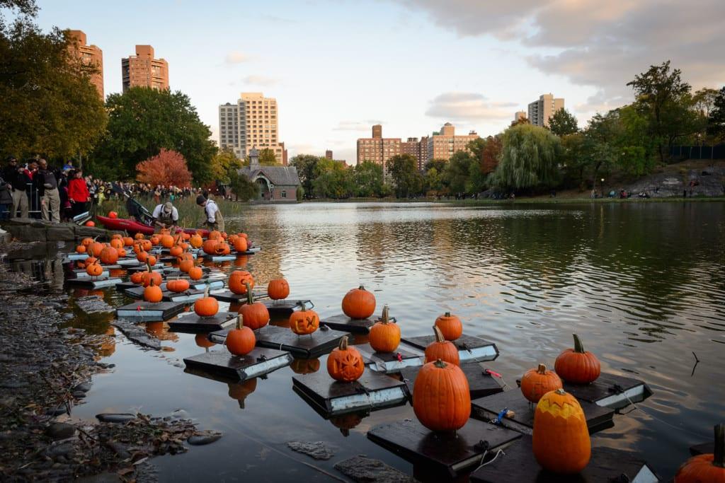 Pumpkin Flotilla Central Park.