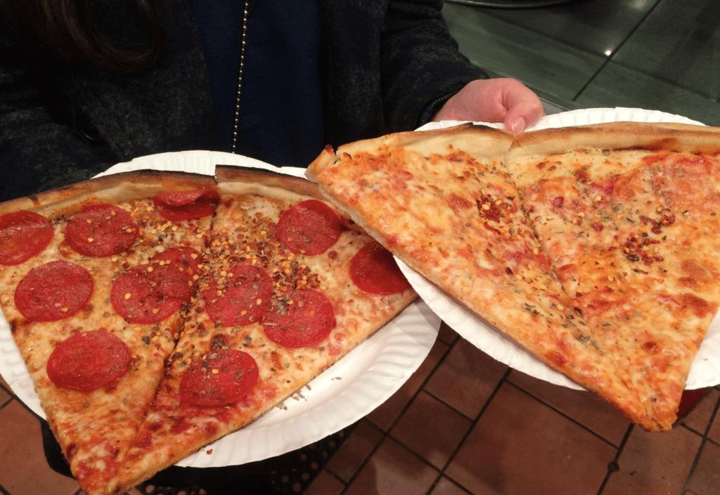 Pizza de 1 dólar em Nova York